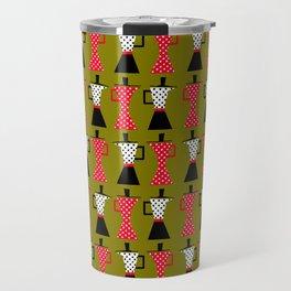 Ole coffee pot in olive green Travel Mug