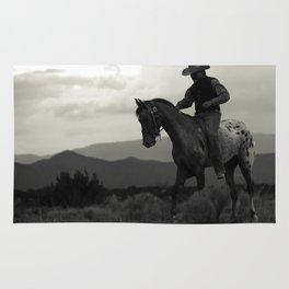 Santa Fe Cowboy on Horse Rug