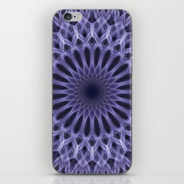 Lilac mandala iPhone Skin