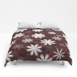 Melted Chocolate and Milk Flowers Pattern Comforters