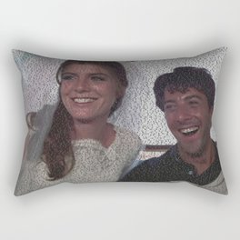 Text Portrait of Benjamin Braddock and Elaine Robinson with full script of the movie The Graduate Rectangular Pillow