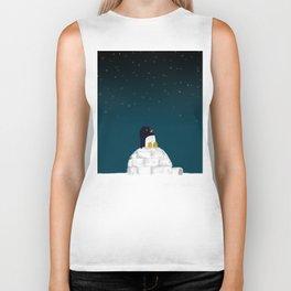 Star gazing - Penguin's dream of flying Biker Tank