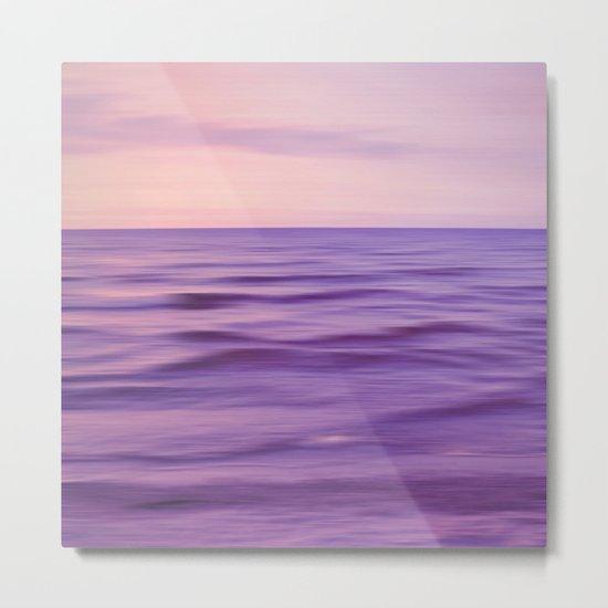 sunset glow purple Metal Print