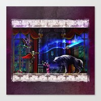 castlevania Canvas Prints featuring Castlevania Verboten by likelikes