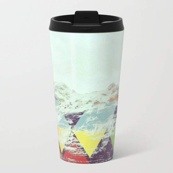 Triangle Mountain Metal Travel Mug