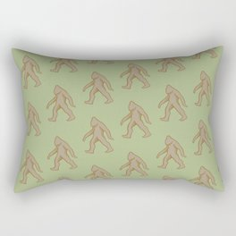 Brown/Green Bigfoot Rectangular Pillow