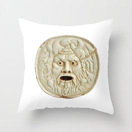 bocca della verita mouth of true statue legend Throw Pillow