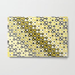 Asymmetry collection: retro shapes and colors Metal Print