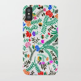 Mexican flowers pattern iPhone Case