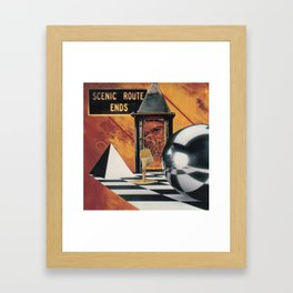 It's All Downhill From Here Framed Art Print