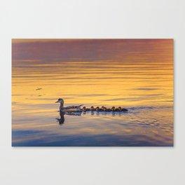 Adorable family Canvas Print