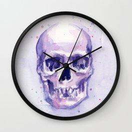 Skull Watercolor Skulls Wall Clock