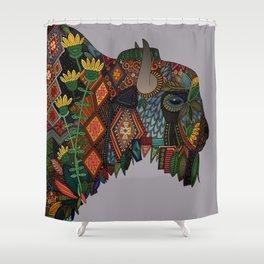 bison heather Shower Curtain