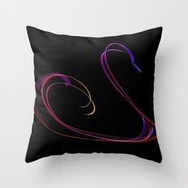 Swan #3 Throw Pillow
