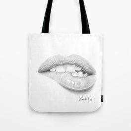 Desiderio / Desire - Lip Bite - Mouth Tote Bag