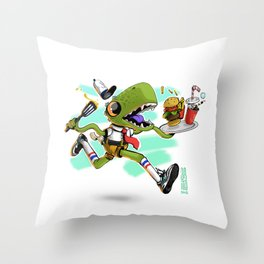 Bob x Reptar Throw Pillow