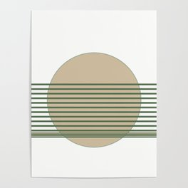 Minimalist Sage Cream Abstract Poster