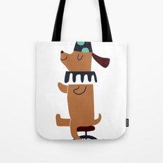 circus dog Tote Bag