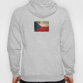 Old and Worn Distressed Vintage Flag of Czech Republic Hoody