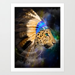 Fight For What You Love (Chief of Dreams: Leopard) Tribe Series Art Print