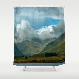 Cloudy afternoon in Connamara Shower Curtain