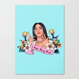 I Make Money Moves Canvas Print