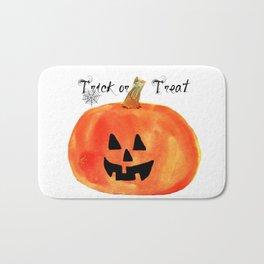 Trick or Treat Jack-O-Lantern, Halloween Pumpkin Bath Mat