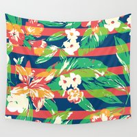 tropical Wall Tapestries featuring Tropical by Steven Toang