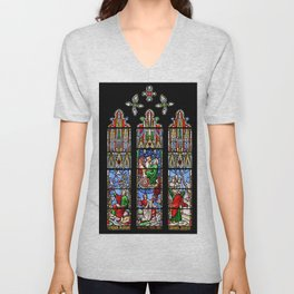 Cathedral Stained Glass 2 Unisex V-Neck