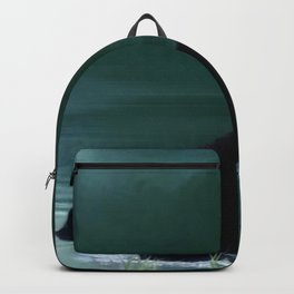 Stepping Into The Moonlight - Black Bear and Moonlit Lake Backpack