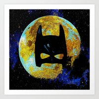 bat Art Prints featuring BAT by Saundra Myles
