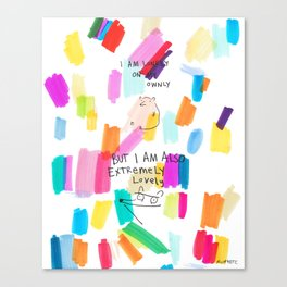 Lonely On My Ownly Canvas Print