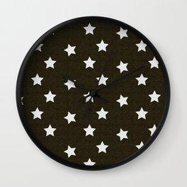 Christmas Stars #xmas #pattern #star #festive #home #decor #kirovair #christmas Wall Clock