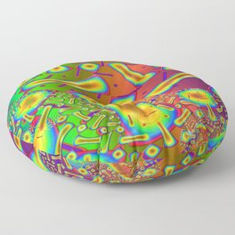 Ambrosia Dichroic Glass Fractal Floor Pillow