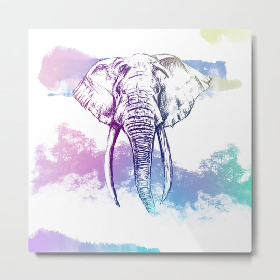 Elephant abstract nature Metal Print