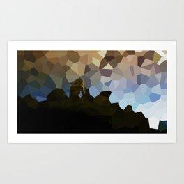 The polygon solitude  Art Print