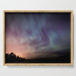 Aurora Borealis Serving Tray