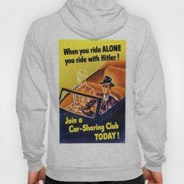 Vintage poster - Car-Sharing Club Hoody