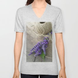 Lavender bouquet Unisex V-Neck
