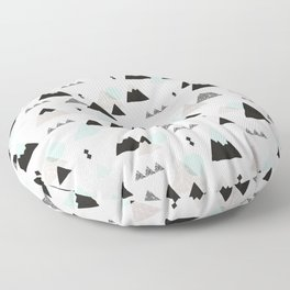Geometric Fuji mountain japan travel pattern Floor Pillow