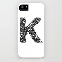 The Illustrated K iPhone Case