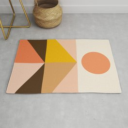 Abstraction_Sunrise_Triangles_Minimalism_001 Rug