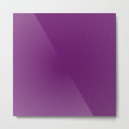 Purple Scales Pattern Metal Print