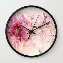Pink is beautiful - 1 - Afternoon burst Wall Clock