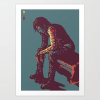 the winter soldier Art Prints featuring Winter Soldier by ASILLU