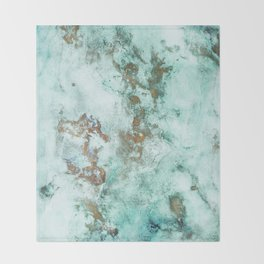 MARBLE - INKED INCEPTION - GOLD & ICE Throw Blanket