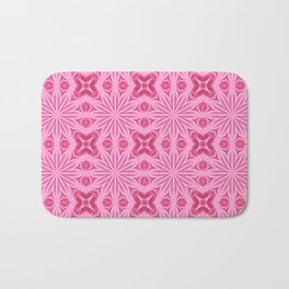 Bubblegum Pink Flower Cross Design Bath Mat