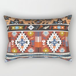 Fancy abstract geometric vector pattern in tribal style.cdr Rectangular Pillow