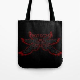 Protected by Lucifer Dark Tote Bag