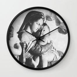 Vintage little statue Wall Clock